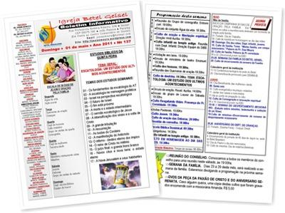 Exibir BOLETIM INFORMATIVO DATA. 01 DE MAIO 2011