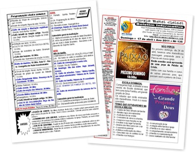 Exibir Boletim informativo do dia 17.04.2011