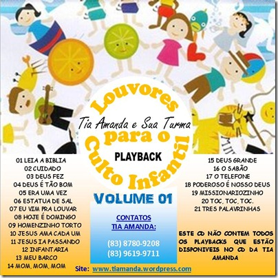 15. CAPA CD TIA AMANDA - PLAY BACK