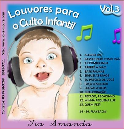 LOUVORES PARA O CULTO INFANTIL VOL 03