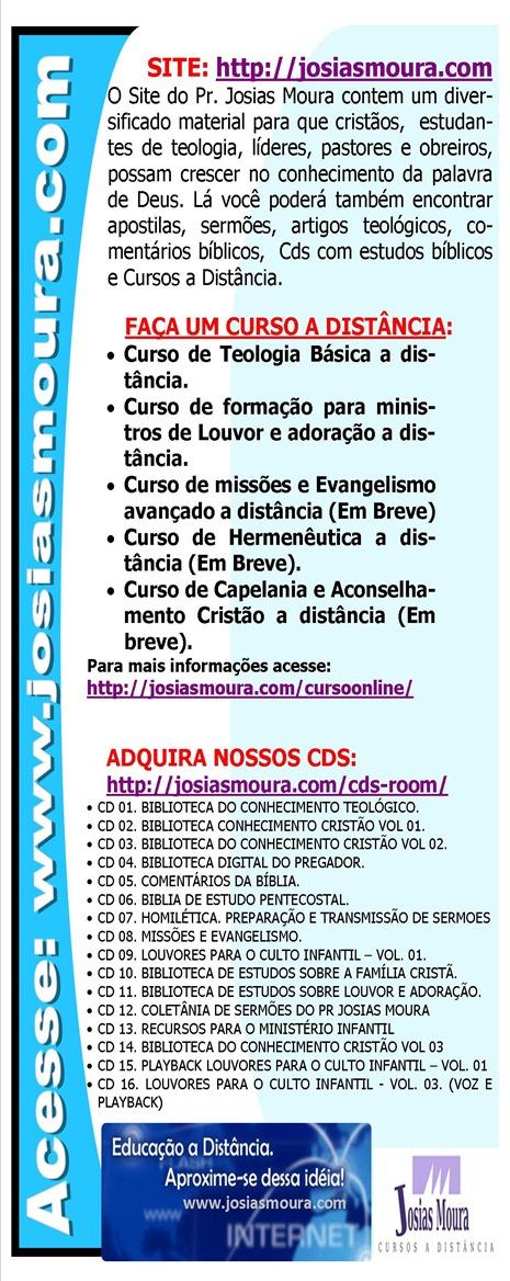 PANFLETO DO SITE JOSIAS MOURA