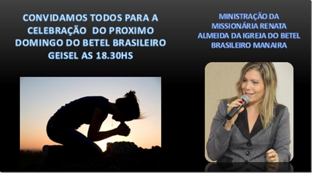 CONVITE PARA CELEBRAÇAO MISS. RENATA