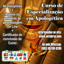 ESPECIALIZAÇÃO EM APOLOGETICA